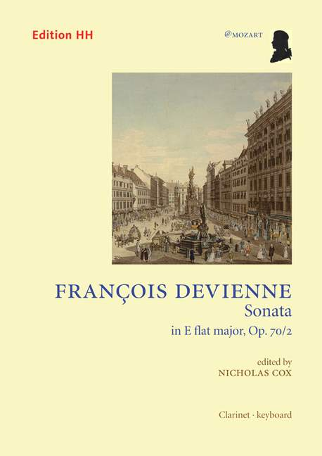 Sonata op. 70/2  Devienne, François  score and parts clarinet and piano 97907080